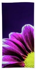 Purple Daisy Being Shy Beach Sheet