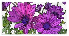 Purple Days Beach Towel