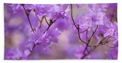 Beach Towel featuring the photograph Purple Delight. Spring Watercolors by Jenny Rainbow