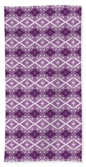 Beach Sheet featuring the digital art Purple Diamonds by Elizabeth Lock