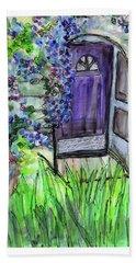 Purple Doorway Beach Towel