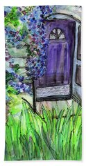 Purple Doorway Beach Towel