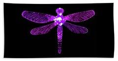 Purple Dragonfly Beach Towel