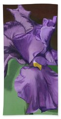 Purple Fantasy Beach Towel by Lynne Reichhart