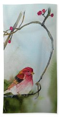 Purple Finch Beach Sheet