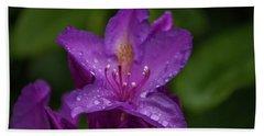 Purple Flower 7 Beach Towel by Timothy Latta
