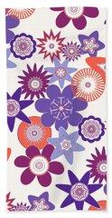 Purple Flower Fantasy Beach Towel by Methune Hively