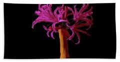 Purple Flower In A Pencil Vase  Beach Sheet