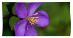 Purple Flower Macro Beach Sheet