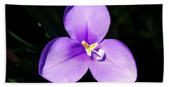 Purple Flower On The Stage Beach Towel
