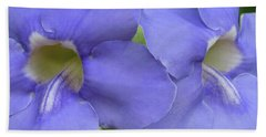 Purple Flower Picture Perfect Beach Sheet