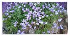 Purple Flower Textured Photo 1028b Beach Sheet