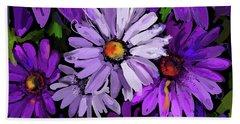 Purple Flowers Beach Sheet