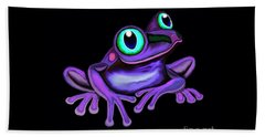 Beach Sheet featuring the painting Purple Frog  by Nick Gustafson