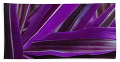 Purple Fronds Beach Towel