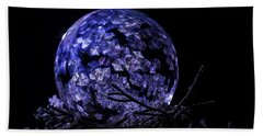 Purple Frozen Bubble Art Beach Towel