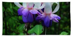 Beach Towel featuring the photograph Purple Fuschia by Tikvah's Hope