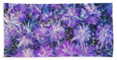 Purple Fusion  Beach Towel