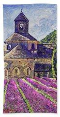 Purple Gardens Provence Beach Towel
