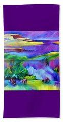 Purple Graze Beach Towel by Elizabeth Fontaine-Barr