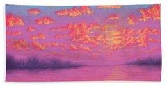 Purple Haze 01 Beach Sheet
