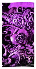 Purple Heart Collection Beach Towel