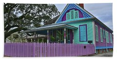 Purple House Beach Towel