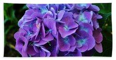 Purple Hydrangea Beach Sheet
