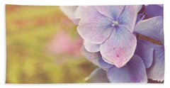 Beach Towel featuring the photograph Purple Hydrangea by Lyn Randle