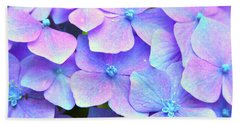 Purple Hydrangeas Beach Towel
