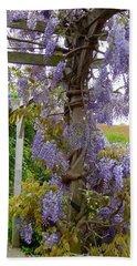 Purple In Priory Park Beach Sheet