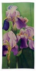 Purple Iris' Beach Towel