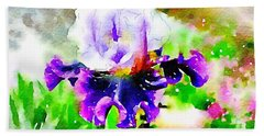 Purple Iris Beach Sheet