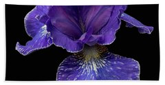 Beach Towel featuring the photograph Purple Japanese Iris by Jean Noren