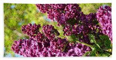Purple Lilac 1 Beach Towel