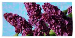 Purple Lilac 2 Beach Sheet