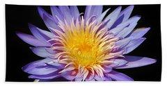 Purple Lotus Beach Towel