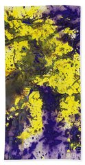 Purple Married Yellow Beach Towel