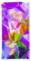 Purple Mix Abstract Beach Towel