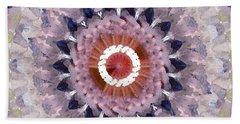 Purple Mosaic Mandala - Abstract Art By Linda Woods Beach Towel