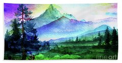 Purple Mountains Majesty Beach Sheet