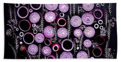 Purple Onion Patterns Beach Towel