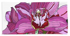 Purple Orchid Beach Towel