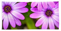 Purple Petals Beach Sheet