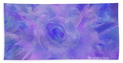 Beach Sheet featuring the digital art Purple Passion By Sherriofpalmspringsflower Art-digital Painting  Photography Enhancements Tradition by Sherri Of Palm Springs