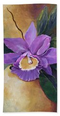 Purple Passion Orchid Beach Towel