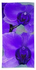 Purple Passion Orchid Beach Towel by Kathy M Krause