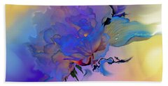 Beach Towel featuring the painting Purple Passion Peony by Hanne Lore Koehler