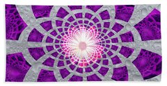 Purple Patched Beach Towel