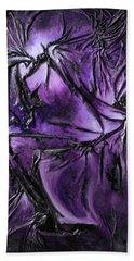 Purple Pedals Beach Towel